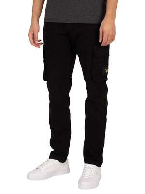 Lyle & Scott Logo Badge Cargos - Jet Black