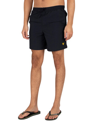 Lyle & Scott Plain Swim Shorts - Dark Navy