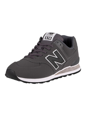 New Balance 574 Trainers - Black/White