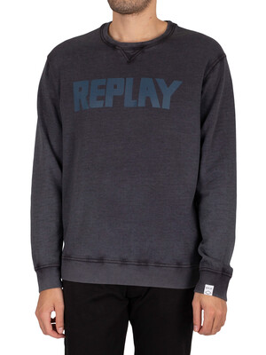 Replay Bio Graphic Sweatshirt - Dark Grey