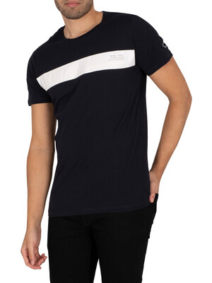 Replay Graphic T-Shirt - Navy/White