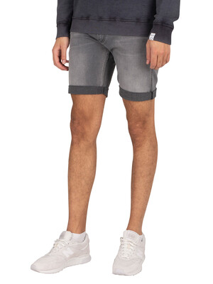 Replay New Anbass 573 Bio Denim Shorts - Light Grey