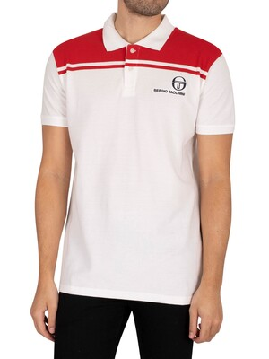Sergio Tacchini New Young Line Polo Shirt - White/Red