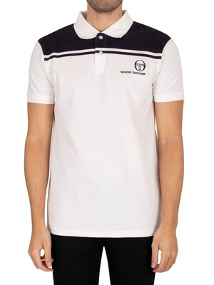 Sergio Tacchini New Young Line Polo Shirt - White/Night Sky