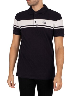 Sergio Tacchini Young Line Polo Shirt - Night Sky/White