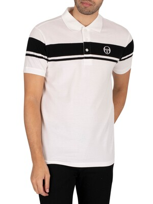 Sergio Tacchini Young Line Polo Shirt - White/Black