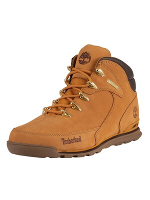 Timberland Euro Rock Mid Hiker Leather Boots - Wheat Nubuck