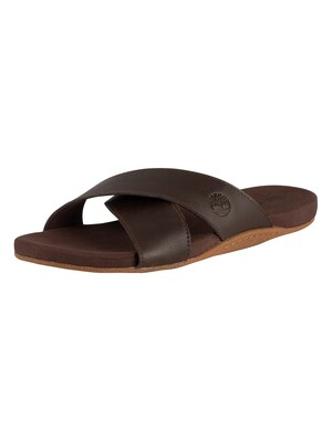Timberland Seaton Bay Strap Leather Sandals - Dark Brown