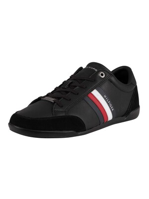 Tommy Hilfiger Corporate Material Mix Cupsole Trainers - Black