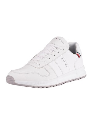 Tommy Hilfiger Modern Corporate Leather Trainers - White