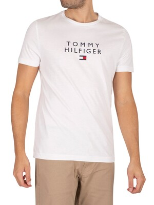 Tommy Hilfiger Stacked Flag T-Shirt - White