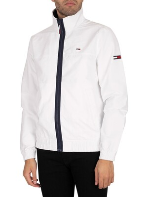 Tommy Jeans Essential Casual Lightweight Jacket - White