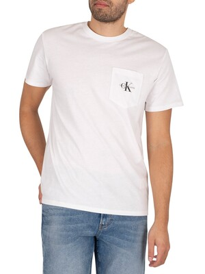 Calvin Klein Jeans Monogram Pocket T-Shirt - Bright White