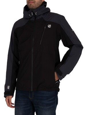 Dare 2b Diluent III Waterproof Hooded Jacket - Black/Ebony