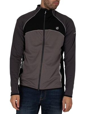 Dare 2b Riform II Full Zip Core Stretch Midlayer Track Top - Alumin/Ebony