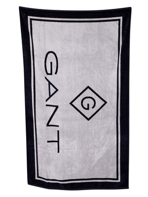 GANT Lock Up Beach Towel - White