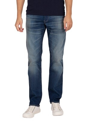 G-Star 3301 Straight Jeans - Worker Blue Faded