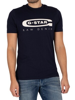 G-Star Graphic Slim T-Shirt - Sartho Blue