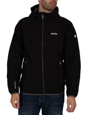 Regatta Arec II Hooded Softshell Jacket - Black