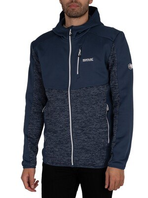 Regatta Cadford Full Zip Hooded Marl Jacket - Dark Denim