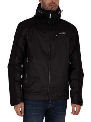 Regatta Highton Stretch Waterproof Shell Jacket - Ash/Black