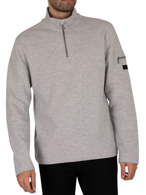 Regatta Tavior Half Zip Coolweave Sweatshirt - Light Steel