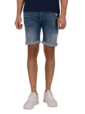 Replay Aged Eco Denim Shorts - Deep Blue