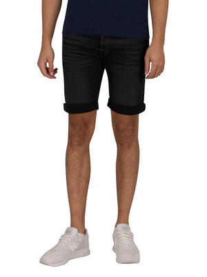 Replay Tapered Denim Shorts - Black