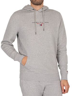 Tommy Hilfiger Essential Pullover Hoodie - Medium Grey Heather