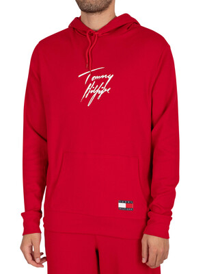 Tommy Hilfiger Lounge Pullover Hoodie - Primary Red
