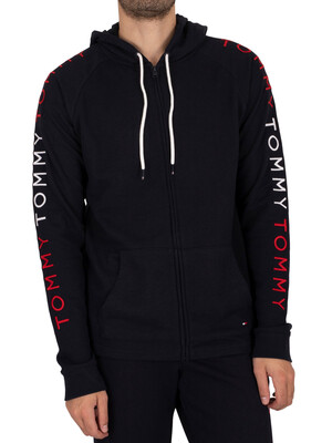 Tommy Hilfiger Lounge Zip Through Hoodie - Desert Sky