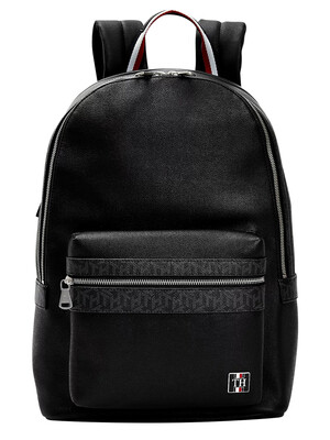 Tommy Hilfiger Monogram Backpack - Black