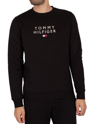 Tommy Hilfiger Stacked Flag Sweatshirt - Black