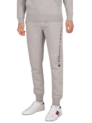 Tommy Hilfiger Stacked Logo Joggers - Medium Grey Heather
