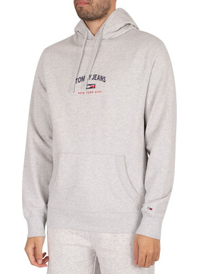 Tommy Jeans Timeless Pullover Hoodie - Silver Grey Heather