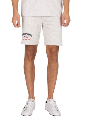 Tommy Jeans Timeless Sweat Shorts - Silver Grey Heather