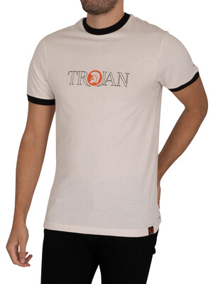 Trojan Outline Logo T-Shirt - Ecru