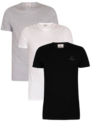 Vivienne Westwood 3 Pack Lounge T-Shirts - White/Black/Grey