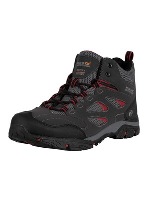 Regatta Holcombe IEP Mid Walking Boots - Ash/Rio Red