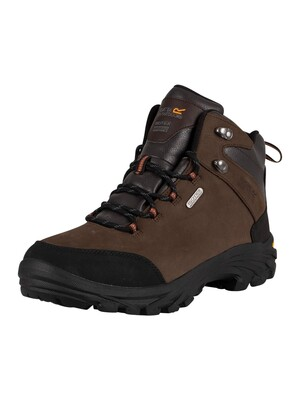 Regatta Burrell Leather Vibram Walking Boots - Peat