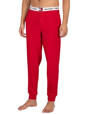 Tommy Hilfiger Branded Waistband Pyjama Bottoms - Primary Red