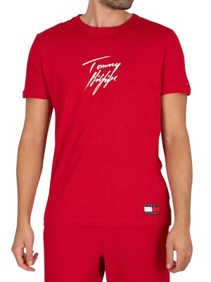 Tommy Hilfiger Lounge Signature Graphic T-Shirt - Primary Red