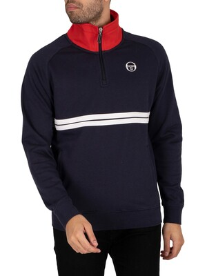 Sergio Tacchini Dallas 1/4 Zip Sweatshirt - Night Sky