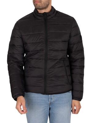 Jack & Jones Magic Collar Puffer Jacket - Black