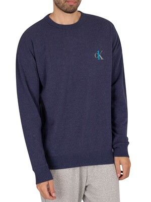 Calvin Klein CK One Lounge Sweatshirt - Blue Shadow