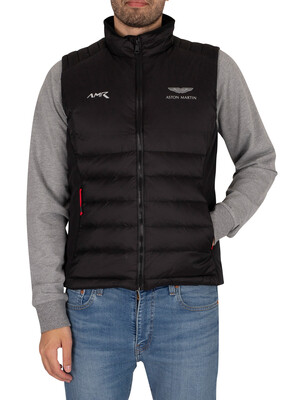 Hackett London AMR Apex Moto Gilet - Black