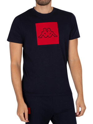 Kappa Ibagni Slim T-Shirt - Navy/Red