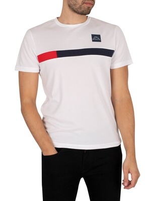 Kappa Imperio Slim T-Shirt - White/Navy