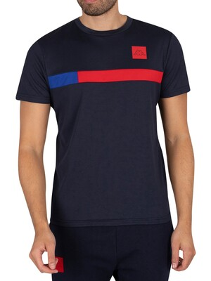 Kappa Imperio Slim T-Shirt - Navy/Red