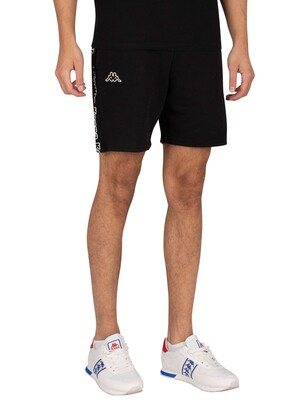 Kappa Logo Isapo Sweat Shorts - Black